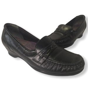 SAS Loafer Black Leather Tripad Comfort Shoes 7M